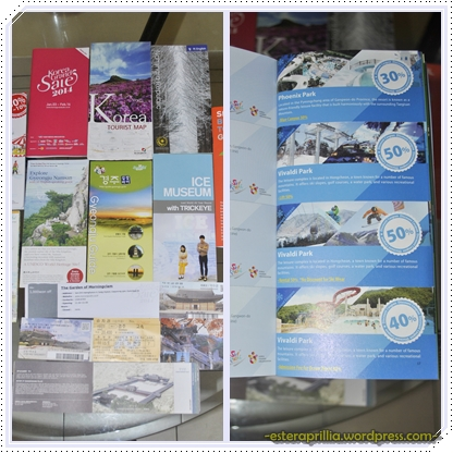 Brosur-brosur yang lengkap, plus melimpah dengan voucher-voucher diskon di dalamnya