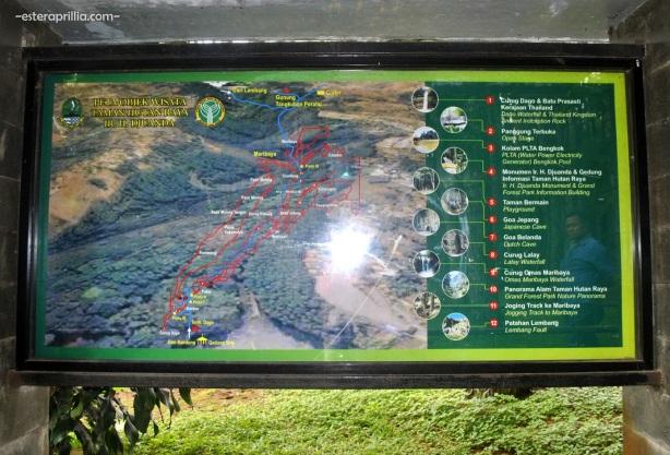 peta Tahura Djuanda